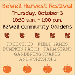 BeWell Harvest Festival Oct. 3