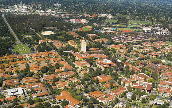 Aerial of the Stanford Campus by Elena Zhukova