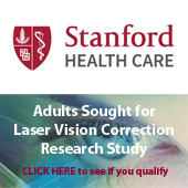 Adults sought for laser vision correction research study. Click here to see if you qualify.