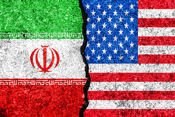 U.S.-Iran flags