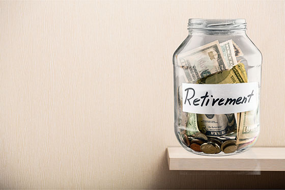 Retirement savings jar by Getty Images