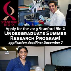 Bio-X undergrad program ad
