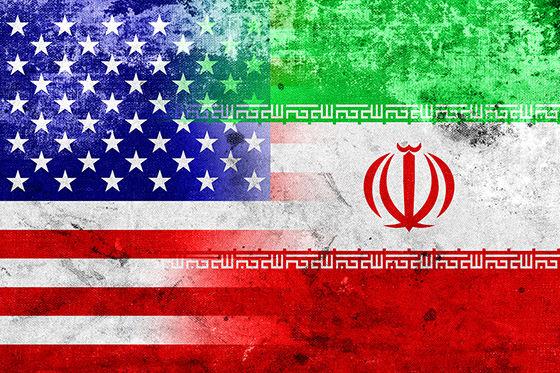 U.S. and Iranian flags