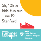 The 6th annual Summer Scamper is June 19 with a 5k, 10k and kids' fun run.