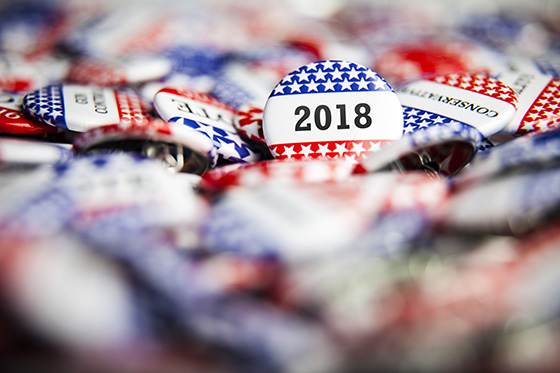 Election buttons by Getty Images