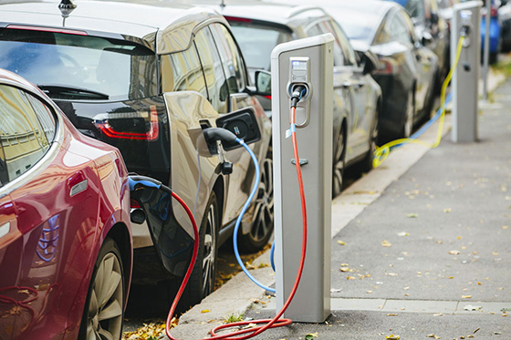 Electric cars by Shutterstock