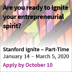 Stanford Ignite – Part Time 2020