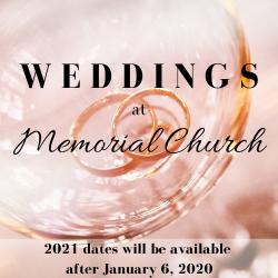 Weddings at Memorial Church