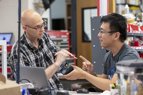 Teacher Rob Alexander and PhD student Tony Chen