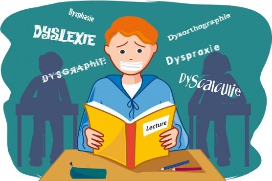 Image écolier Dyslexique