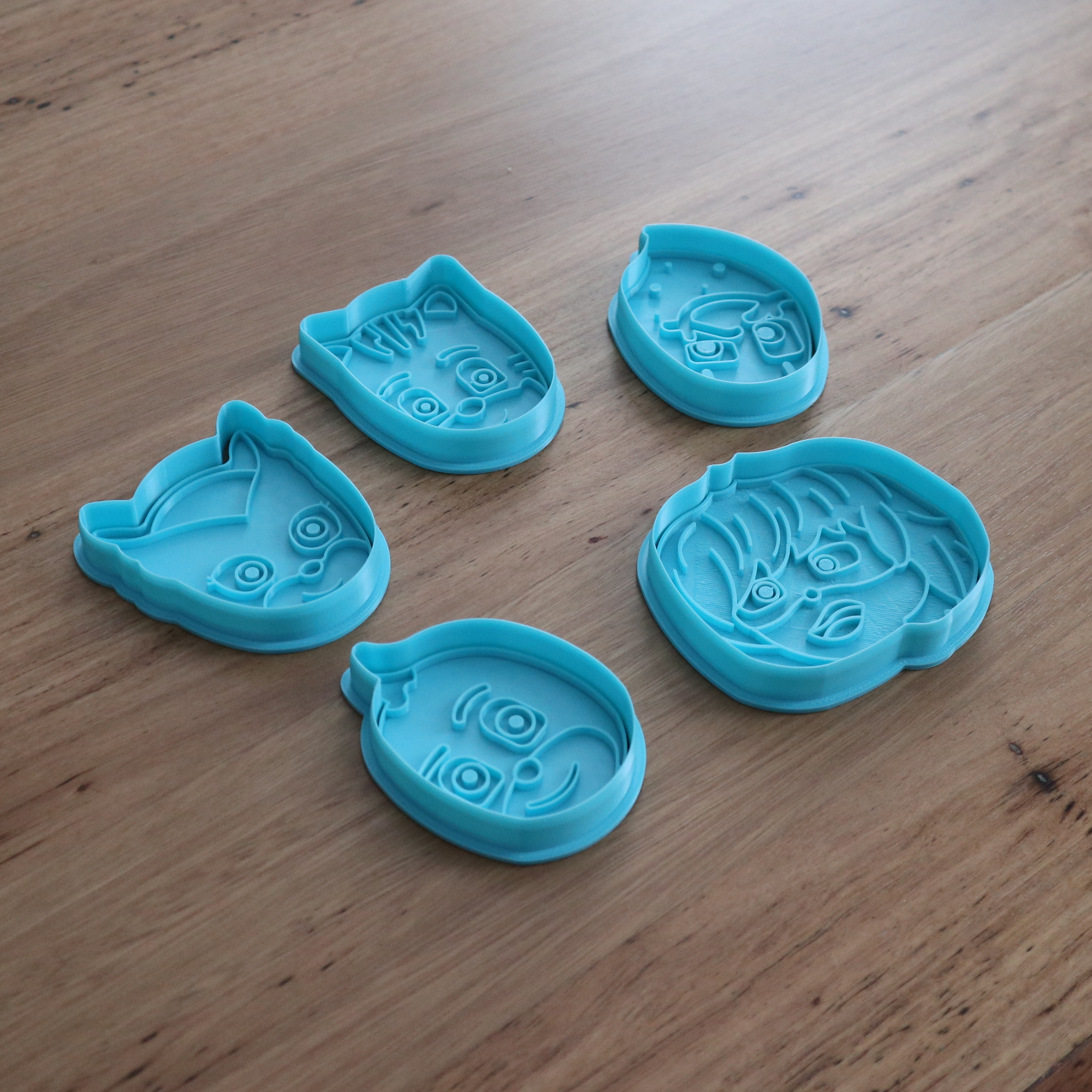 PJ Masks Cookie Cutter and Stamp Catboy Gekko Owlette Night Ninja Luna Girl