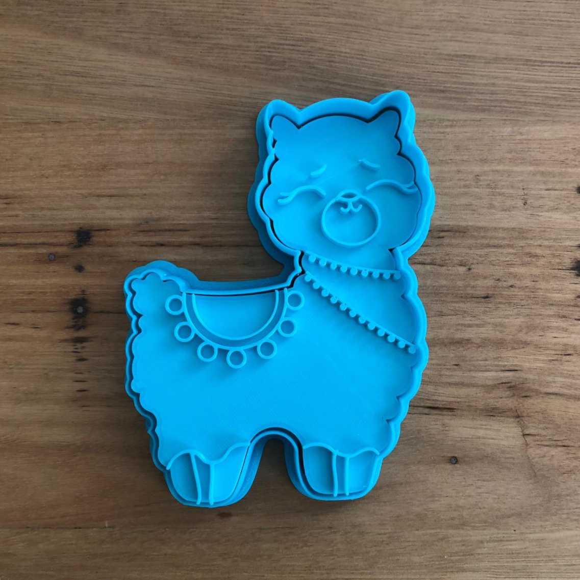 Llama Cookie Cutter and Fondant Stamp