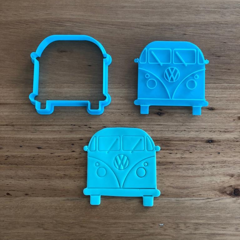 VW Combi Cookie Cutter and Stamp