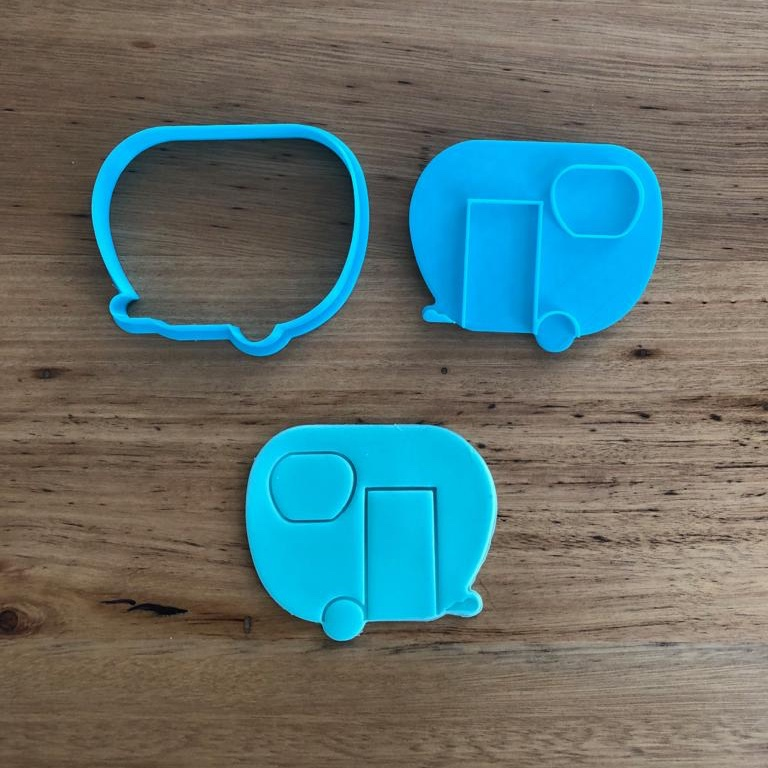 Caravan Cookie Cutter and Stamp