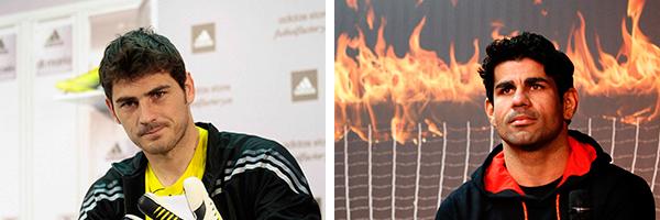 Iker Casillas y Diego Costa