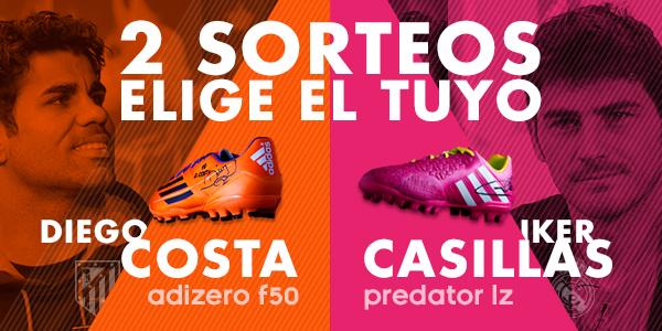 Sorteo botas de fútbol - Iker Casillas y Diego Costa