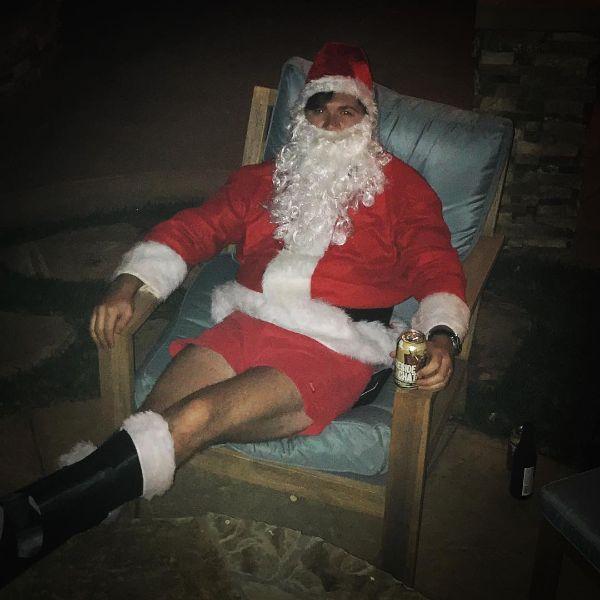 Santa in Hammies