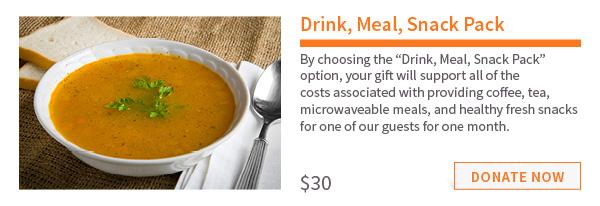 $30 – Drink, Meal, Snack Pack