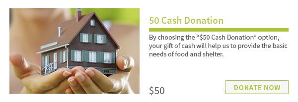 $50 – Cash Donation