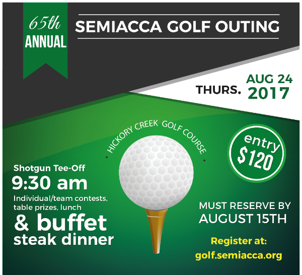 SEMIACCA GOLF OUTING REGISTER