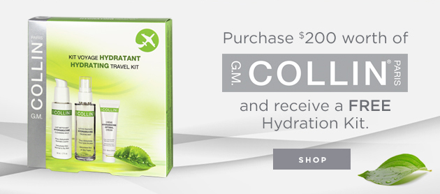 Purchase $200 worth of G.M Collin products and receive a FREE Hydration Kit