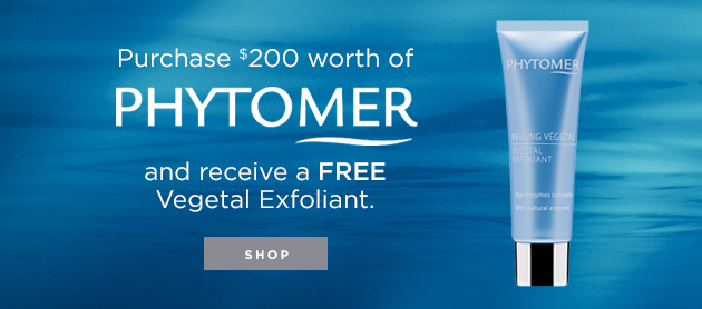 Purchase $200 worth of Phytomer and receive a FREE Vegetal Exfoliant