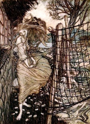 Arthur Rackham's drawing of Undine.