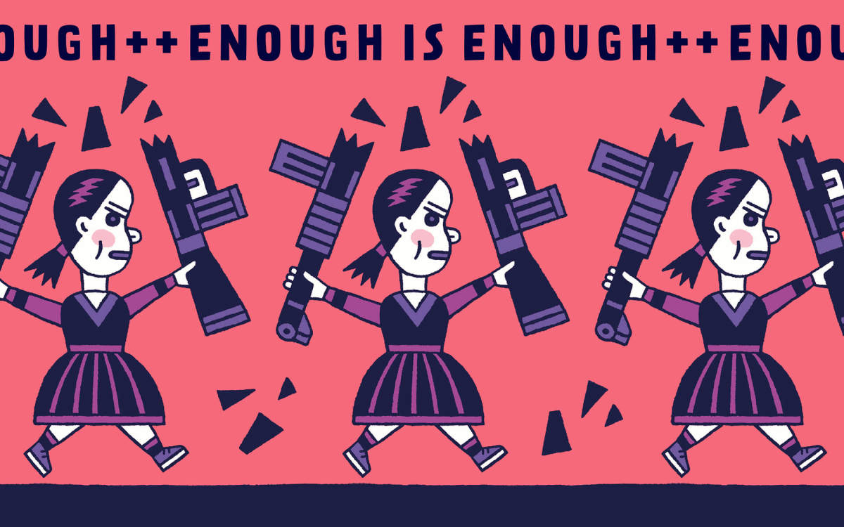 Enough is enough poster by Henning Wagenbreth