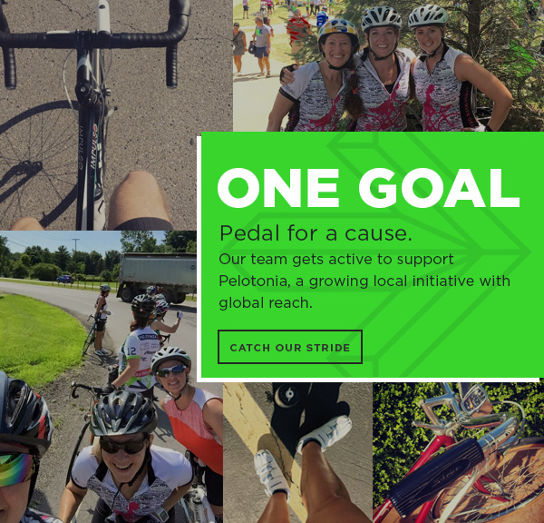 One Goal - Pedal for a cause. Our team gets active to support Pelotonia, a growing local initiative with global reach.