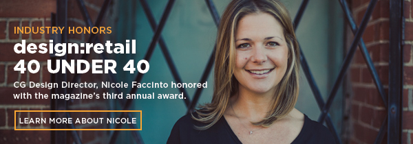 Nicole Faccinto honored with design:retail 40 Under 40 award.