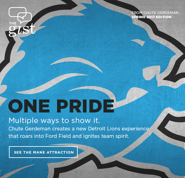 ONE PRIDE - Chute Gerdeman attracts Detroit Lions fans with a stronger team store experience.