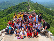 Chinese American International School's 7th grade class trip to Beijing included an excursion to the Great Wall.