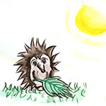 Image from page 2 of a children's story written by Heidi Steele and illustrated by her student Emmalene Madsen.