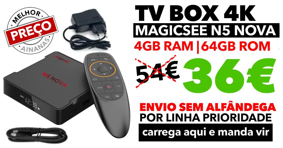 SUPER PREÇO na TV BOX Magicsee N5 NOVA