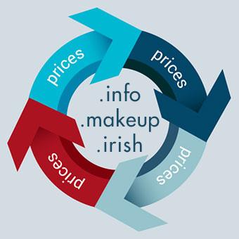 Prijswijzigingen .info, .makeup, .irish
