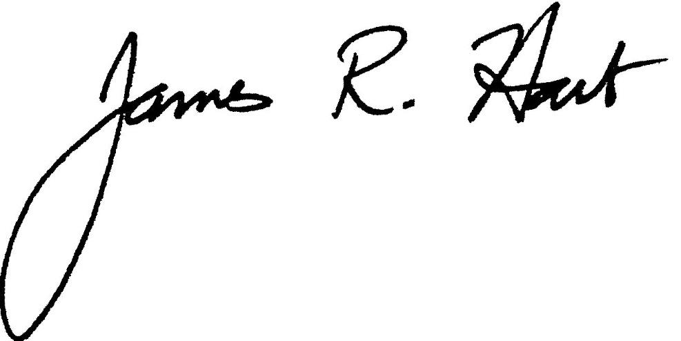 James R. Hart signature