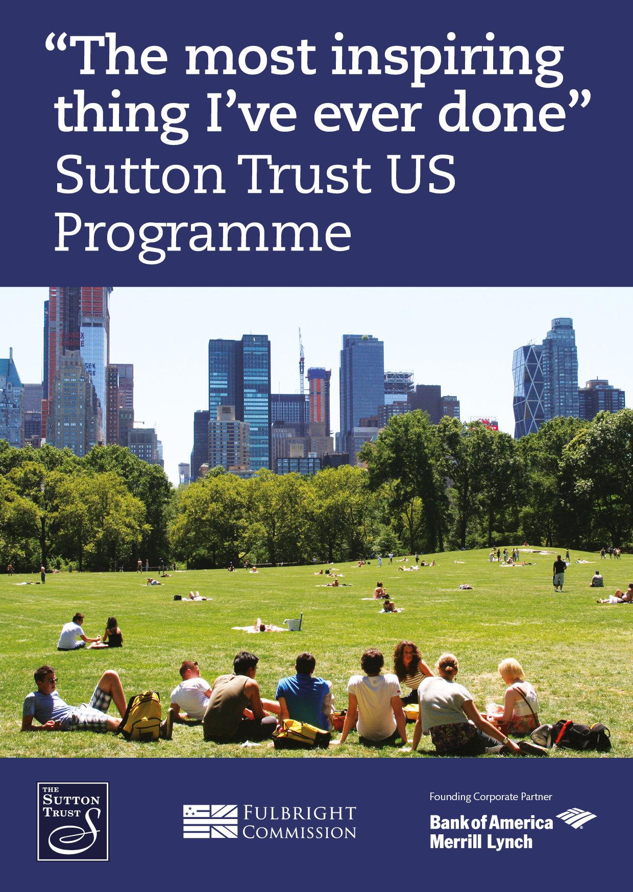 Sutton Trust US Programme 2017