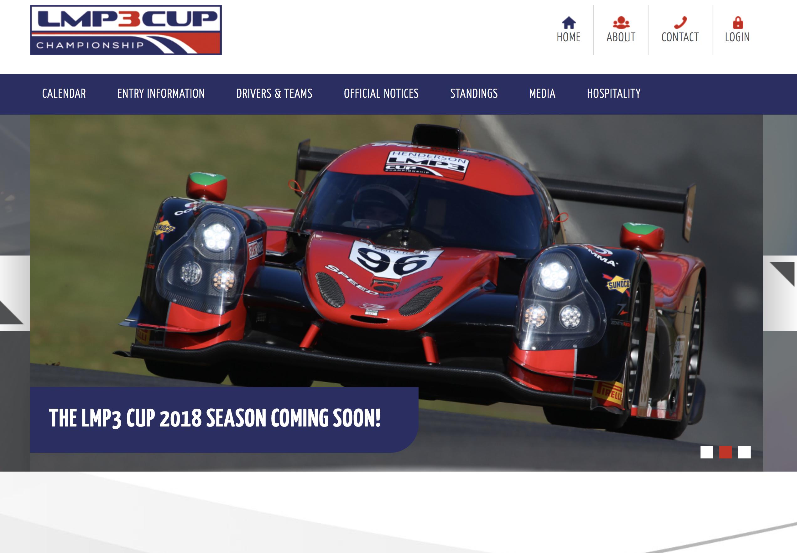 LMP3 Cup Homepage