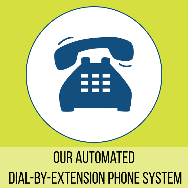 Need to contact us? Use our direct extension!