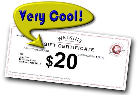 Cool $20 Gift Certificate