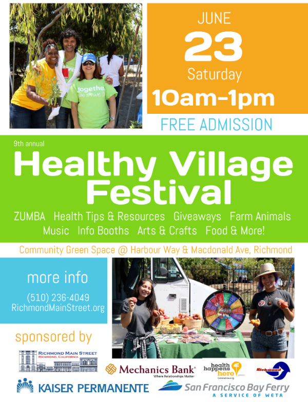 Healthy Village Festival Flyer