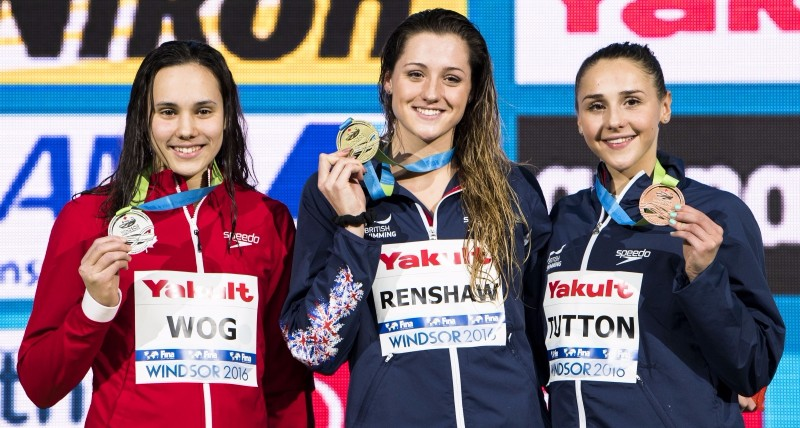 Podium women's 200m breaststroke