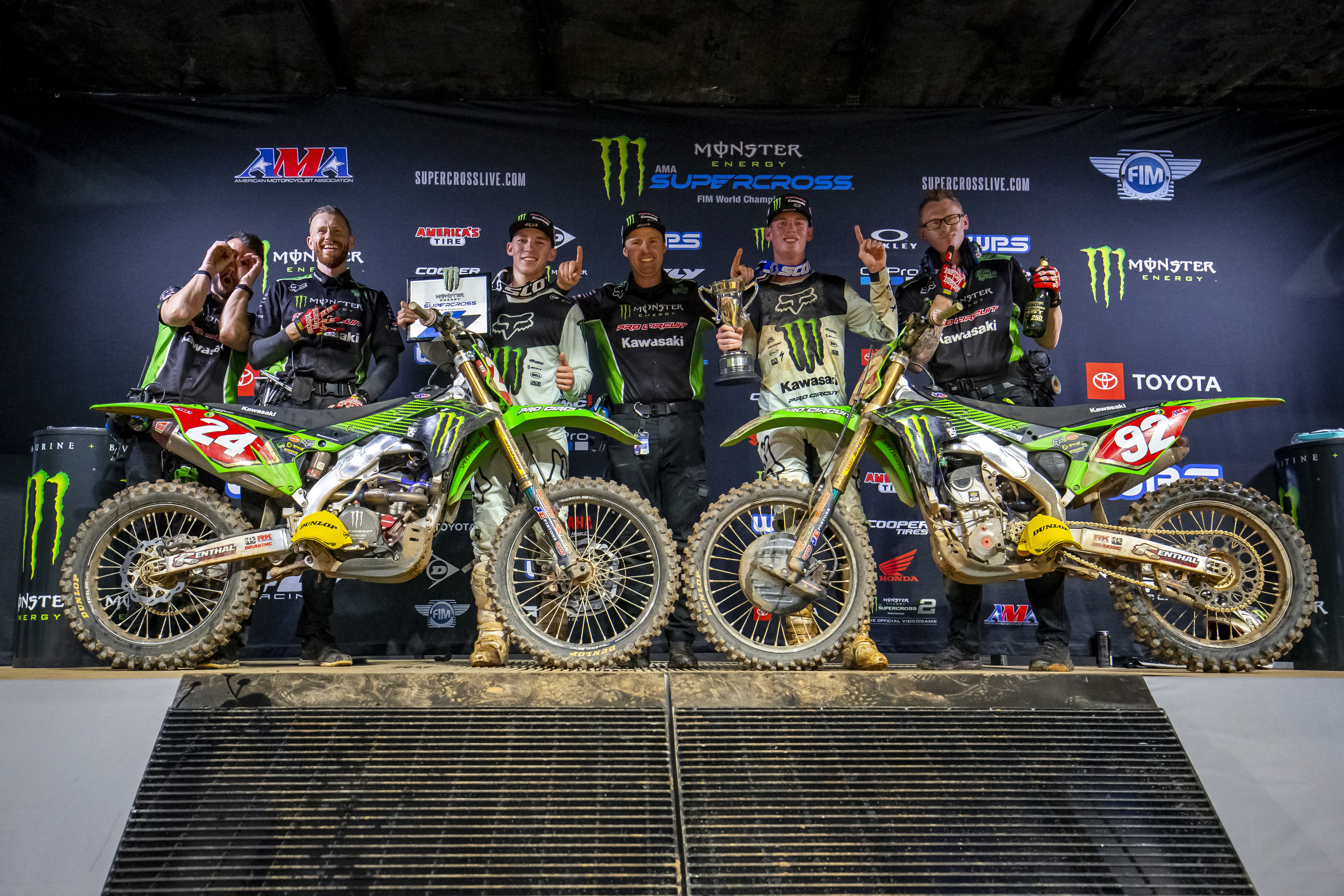 Double Podium for Monster Energy®/Pro Circuit/Kawasaki in Atlanta