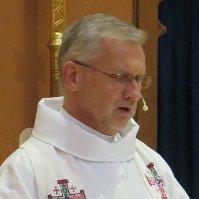 image description: The Rev. Gary Cyr preaching