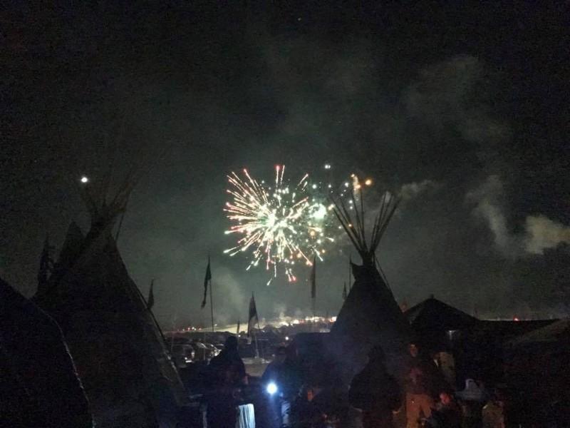 Fireworks at Standing Rock --ENS