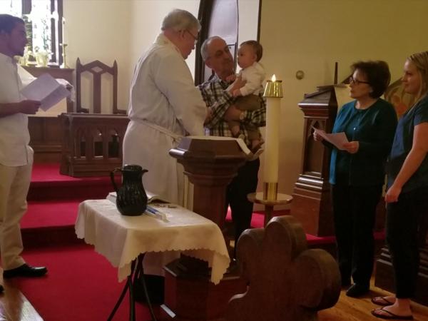 Baptism of Hayden Anthony Matuszczak at St. Mark's, Port Lyden