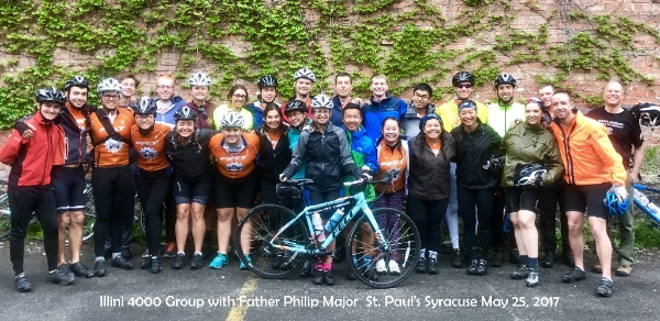 St. Paul's Syracuse Hosts Illini 4000 Bike Group