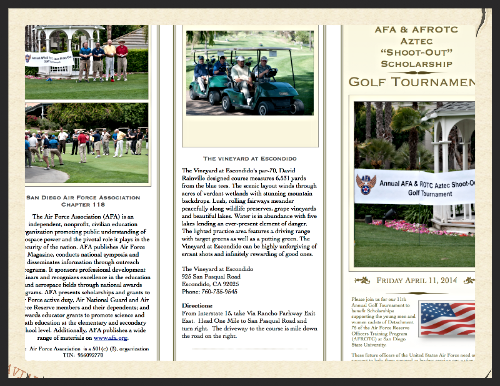 Download our Golf Tournament Brochure