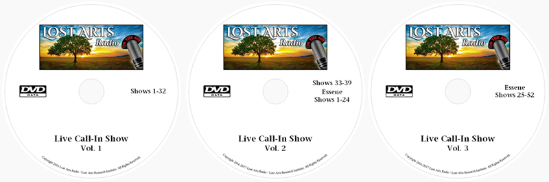 Lost Arts Radio Shows MP3s on Data DVD