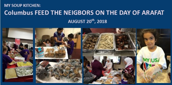 Columbus Feed The Neighbors on The Day of Arafat